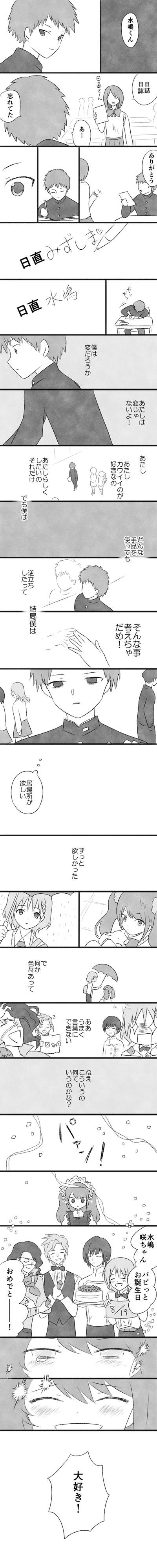 水嶋咲ちゃんお誕生日おめでとう漫画/アイドルマスター sideM